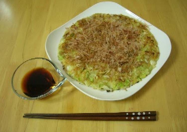 Recipe of Award-winning Tofu and Cabbage Okonomiyaki