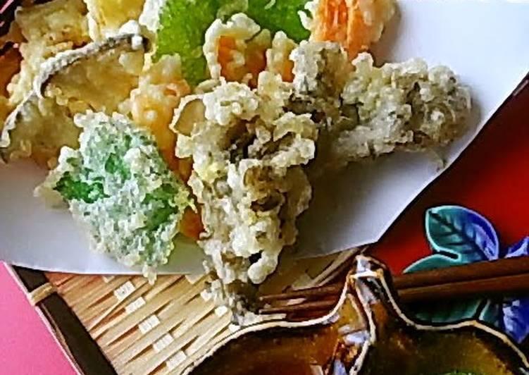 Recipe: 2021 Crispy and Light: Vegetable and Mushroom Tempura
