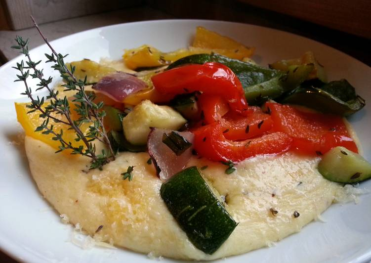 lemon and thyme polenta. YEAH!