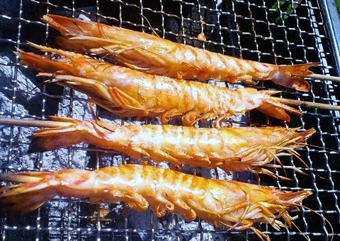 Grilling Salted Shrimp for Barbecues or an Easy Appetizer!