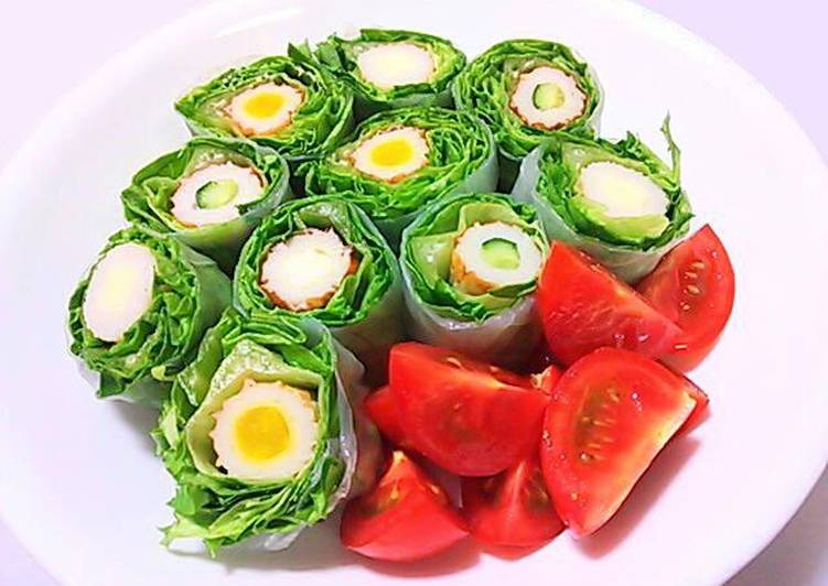 Simple Way to Prepare Ultimate Fresh Spring Rolls with Cheese & Cucumber Chikuwa