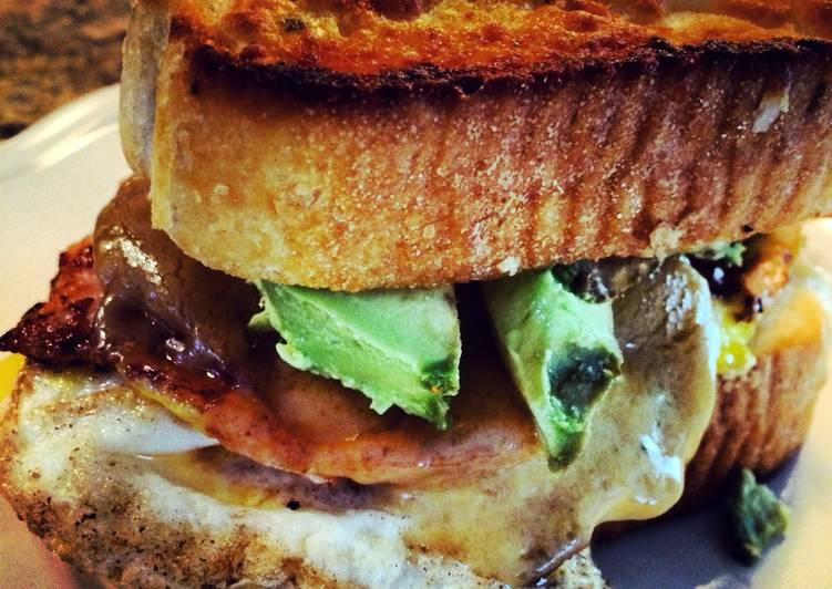 Ingredients to Make Garlic Toast Breakfast Sandwich Award-winning