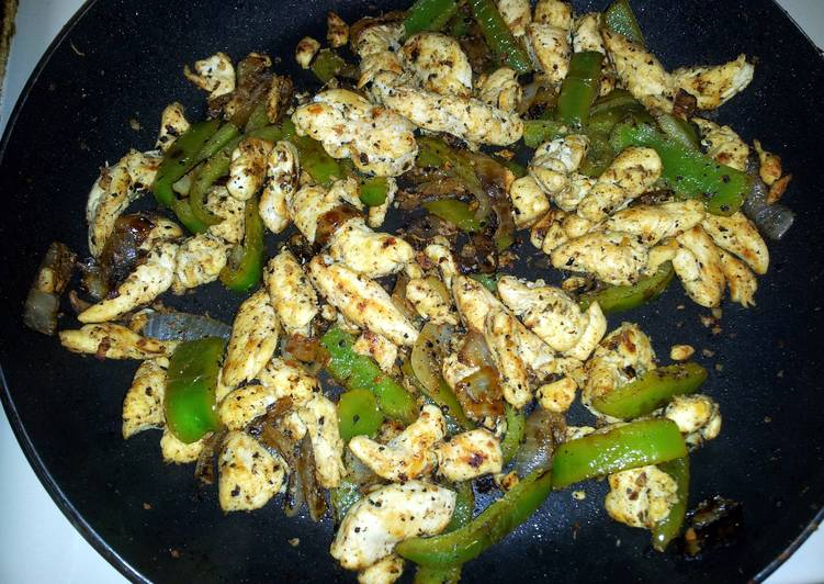 Garlic Lime Chicken Fajitas