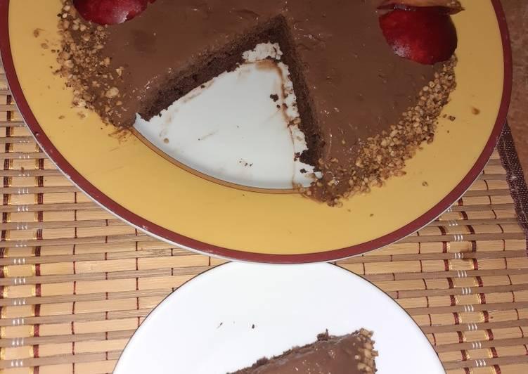 Tarta de chocolate sin horno 🍫