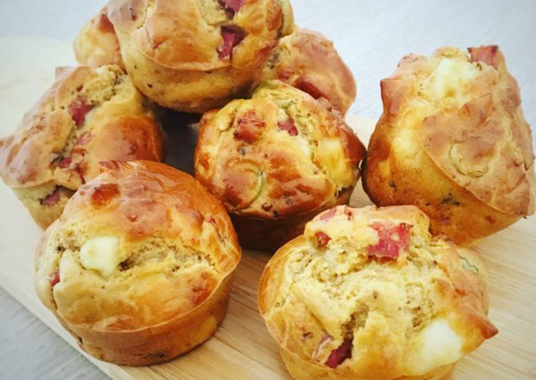 Muffins salés jambon emmental olive & noix