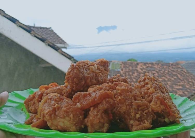 Spicy Honey Chicken / Ayam Krispi Saus Asam Manis