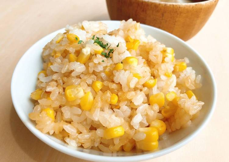 How to Cook Appetizing Butter Soy Sauce Corn Rice