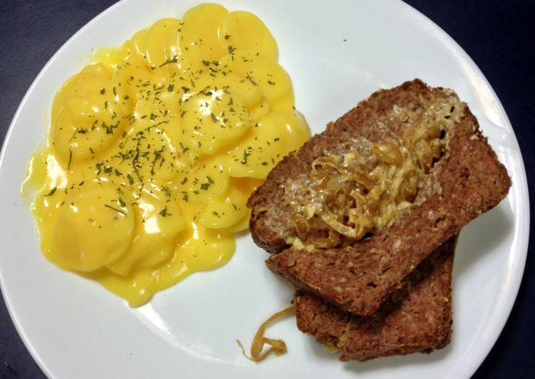 Bleu Cheese and Onion Stuffed Meatloaf