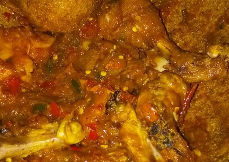 Ayam penyet terasi ala2 deh