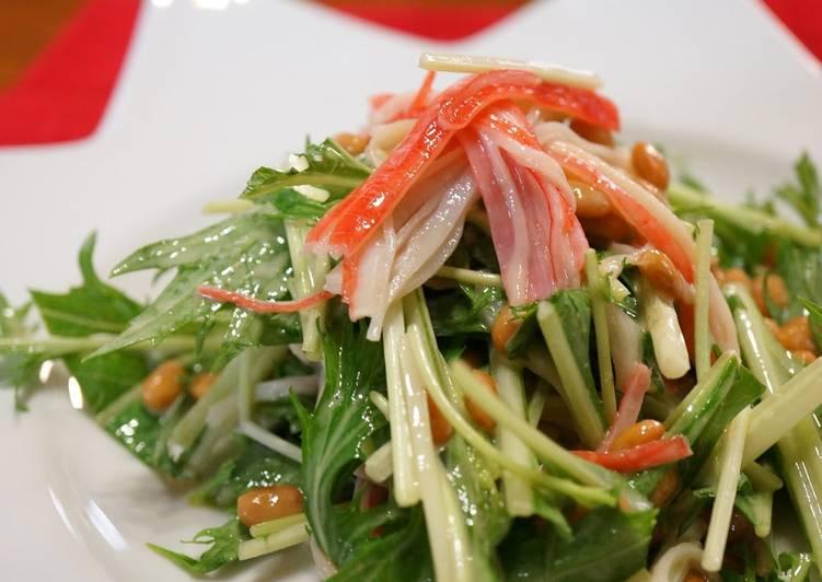 Natto & Mizuna Salad