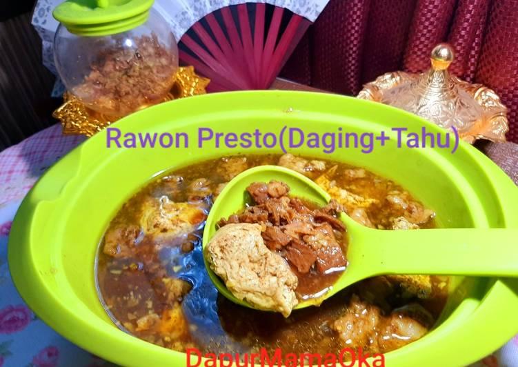 Rawon Presto(Daging Sapi+Tahu)