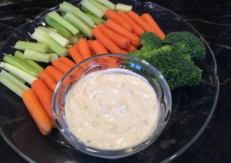 Recipe of Quick Easy And Best Tasting Veggie Dip!