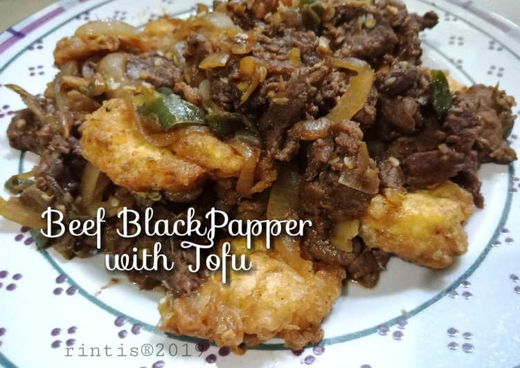 Beef Black Papper with Tofu