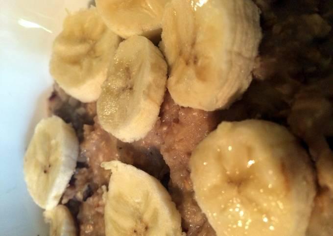 Banana Bread Inspired Oatmeal