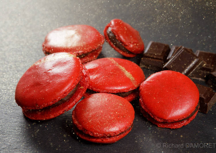 Simple  Macarons au chocolat aux couleurs de Noël