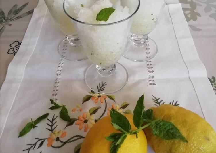 Granité citron et menthe