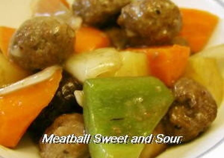 The Meals You Pick To Eat Will Effect Your Health Sweet and Sour Pork Style Meatballs with Thick Sweet-Vinegar Sauce