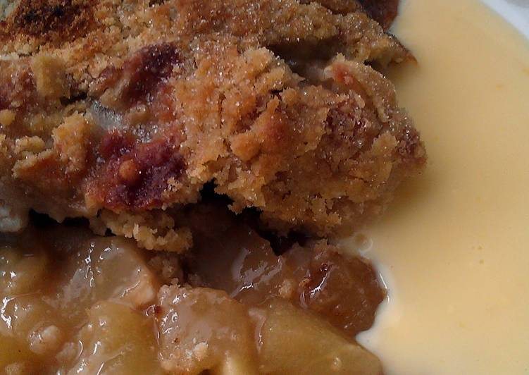 Easiest Way to Make Perfect Vickys Pear and Apple Butterscotch Crumble, GF DF EF SF NF