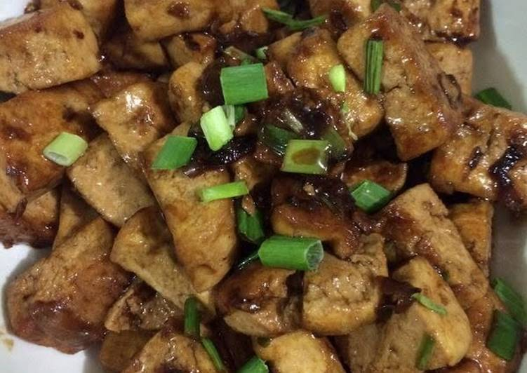 Stir Fried Tofu In Oyster Sauce