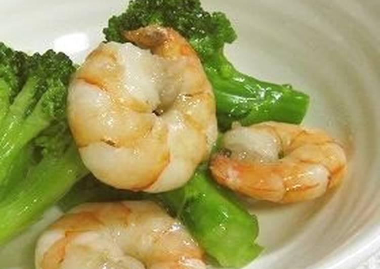 Lightly-seasoned Shrimp and Broccoli for Bentos
