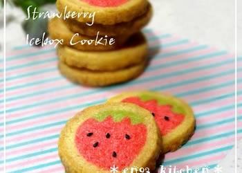 Easiest Way to Prepare Tasty Adorable Strawberry Freezer Cookies