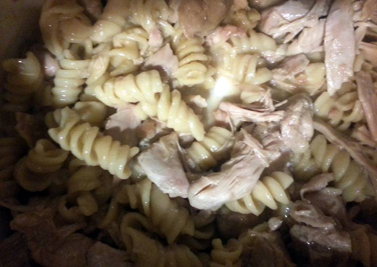 Simple Way to Prepare Homemade Low fat organic chicken pasta