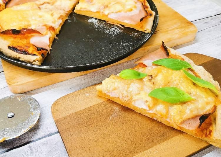 Glutén és élesztőmentes pizza rizsliszttel recept foto