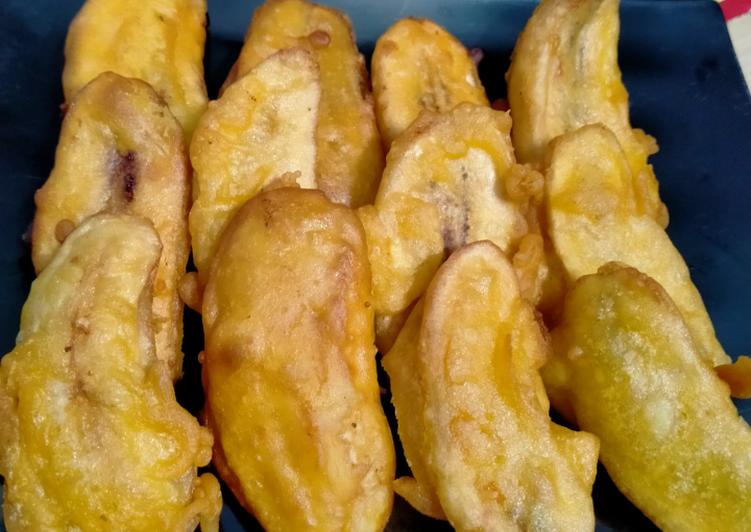 Pisang goreng nutrisari jeruk maroko