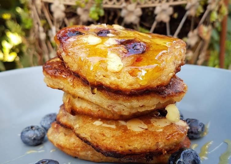 Easiest Way to Make Appetizing Bananen-Blaubeer-Pancakes