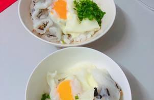 Bánh Cuốn Nhân Thịt - Bánh Cuốn Trứng Làm bằng chảo chống dính