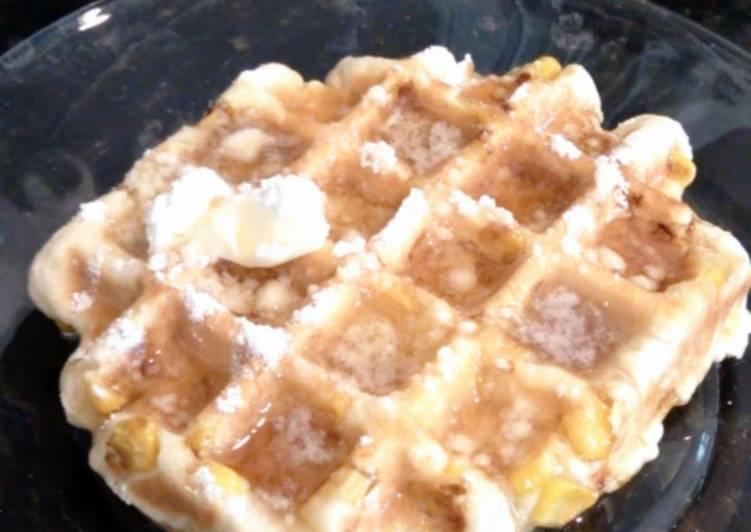 Corn Fritter Waffles