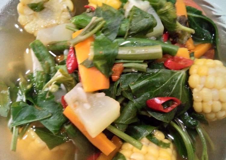 16. Masak mudah: sayur asem ft bumbu racik