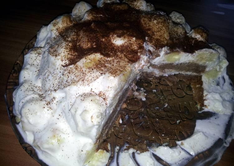 How to Prepare Quick black & white mountain cake