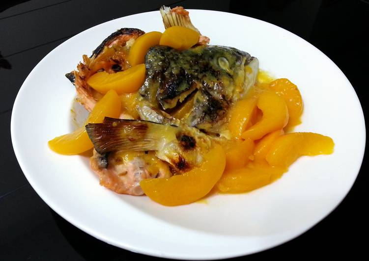 Salmon In Honey Peach Sauce
