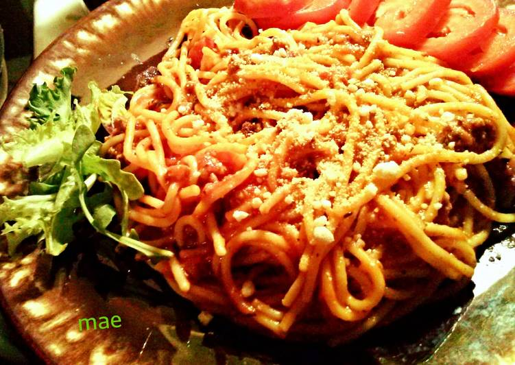 Recipe of Perfect Spaghetti with Simple Sauce