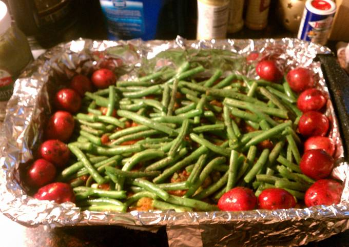 Steamed Lime Swai & Green Beans and Red Potatoes