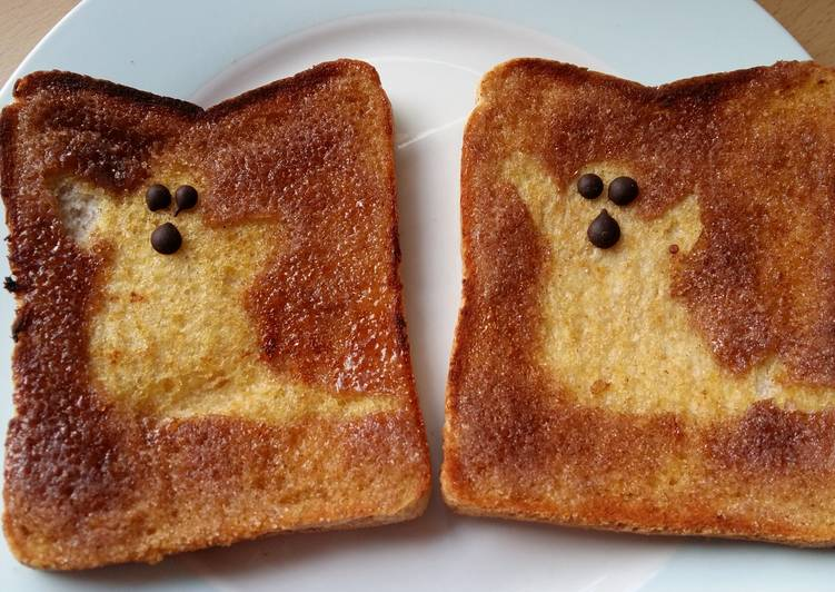 10 Minute Dinner Ideas Autumn Vickys Happy Halloween Morning Ghost Toast, GF DF EF SF NF