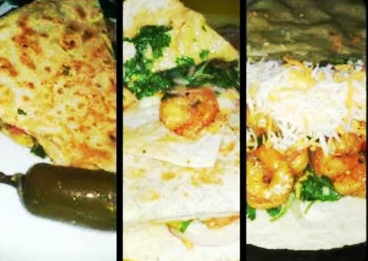 Ray's' Spicy Shrimp Quesadillas