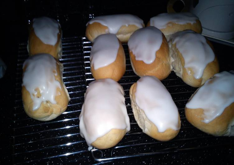Simple Way to Prepare Homemade iced finger buns
