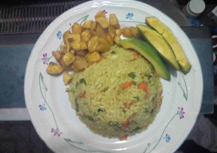 Fried coconut rice