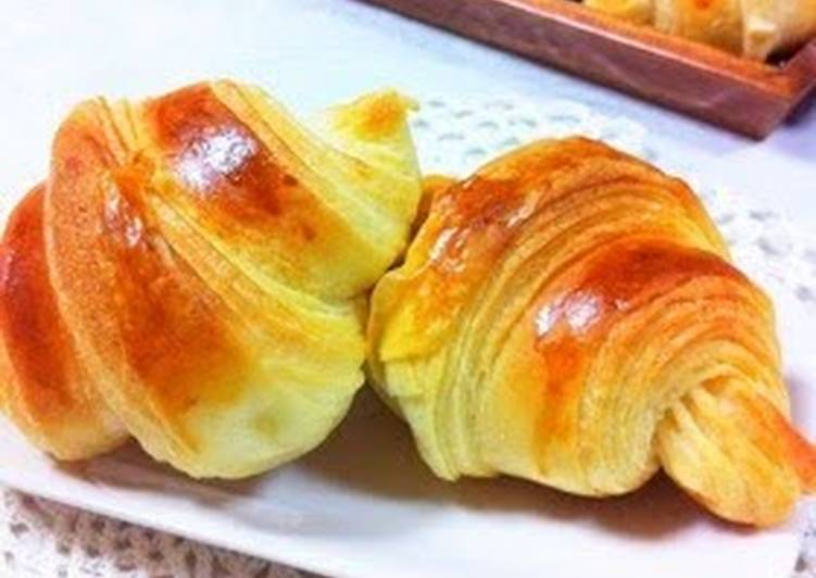 Recipe: Delicious Light and Fluffy Croissants