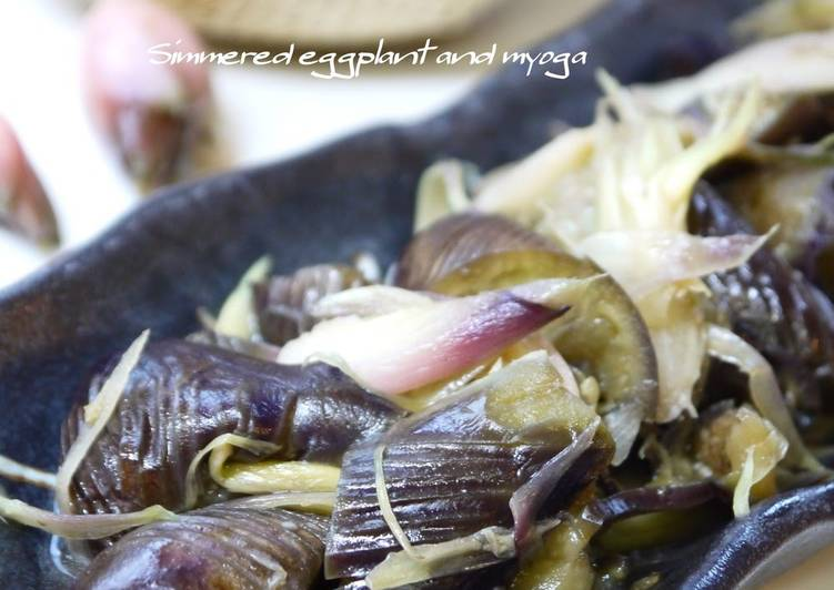 Simmered Eggplant and Myoga Ginger