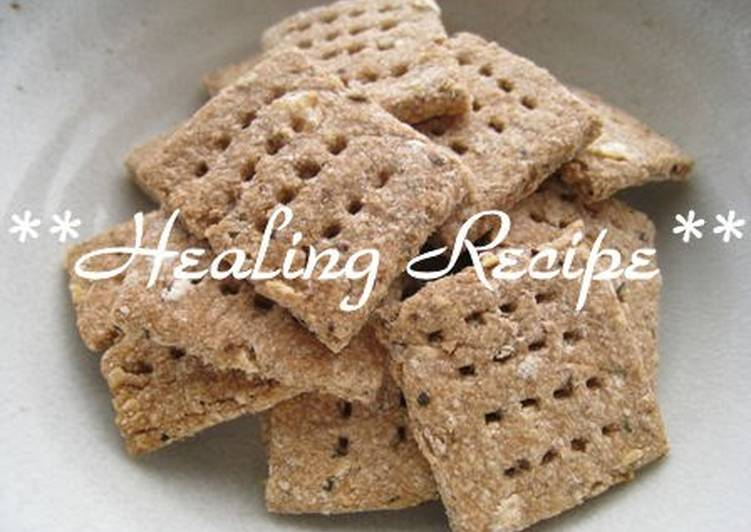 Simple Microbiotic Okara Crackers - Laurie G Edwards