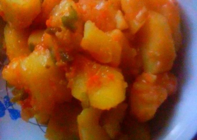 Stewed Irish Potatoes#cookedwithcookpad