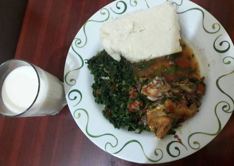 Simple Way to Make Ultimate Ugali kuku na sukuma