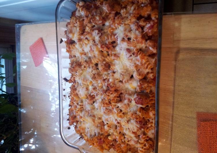 Recipe: Yummy Baked chicken pasta dish