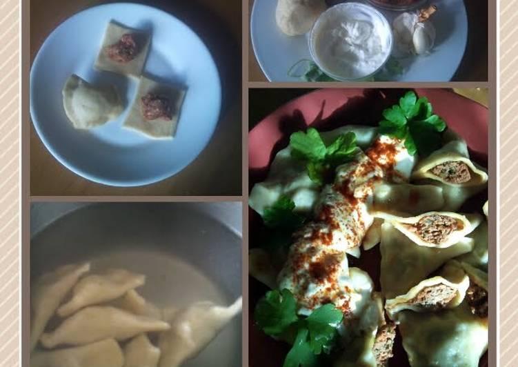 Recipe of Perfect sig's Manti little Turkish savoury dough purses