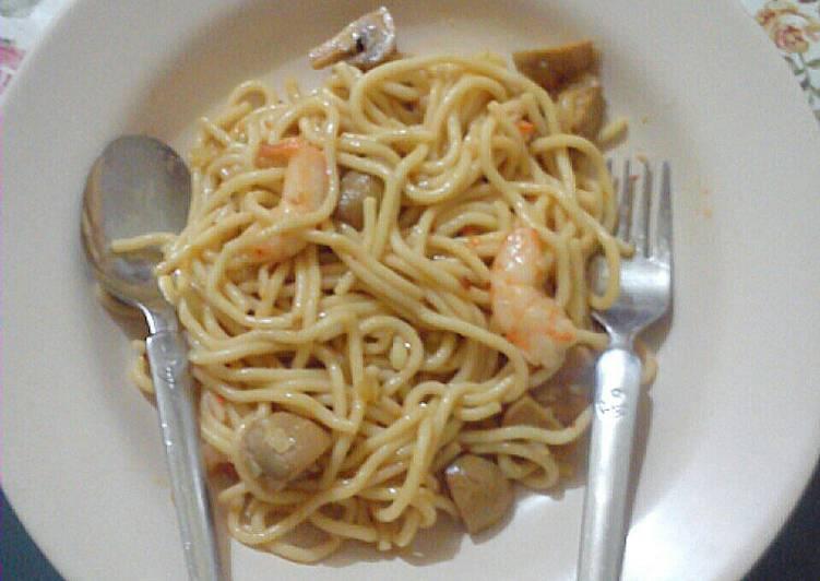 Recipe: Appetizing Quick & Easy Fusion Spaghetti