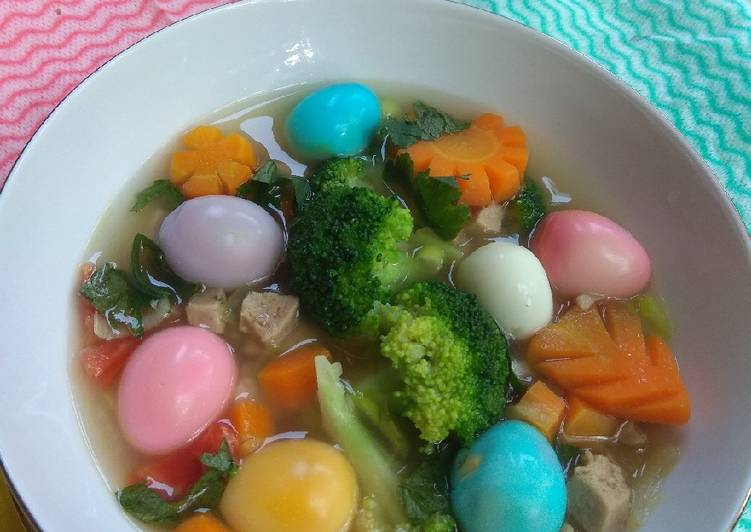 Sup telur puyuh pelangi