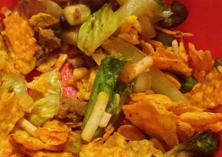 Recipe: Yummy Doritos taco salad